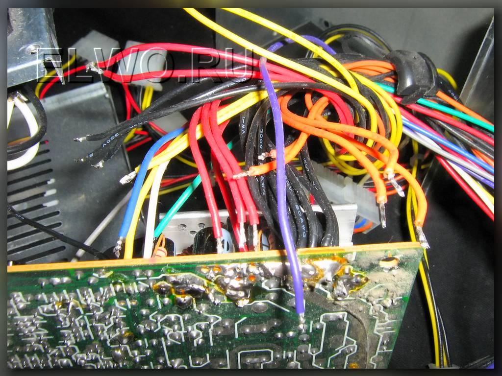 лишние провода из блока питания ATX