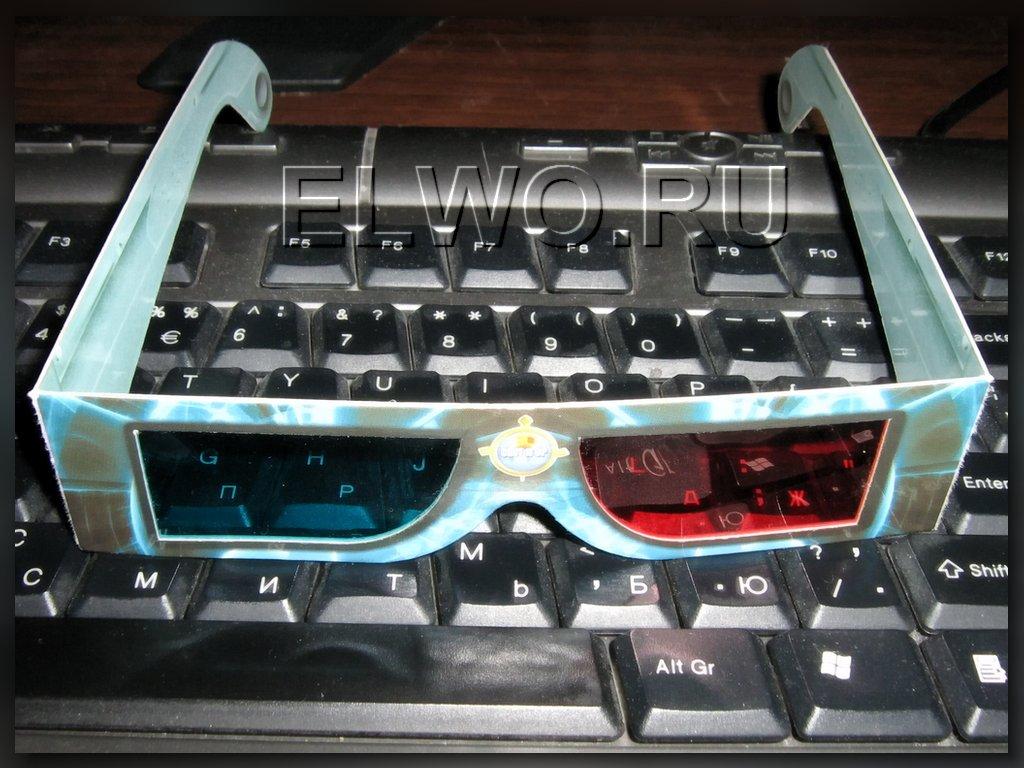 Простые 3д очки анаглиф