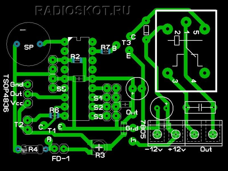 При изготовлении ИК датчика (в