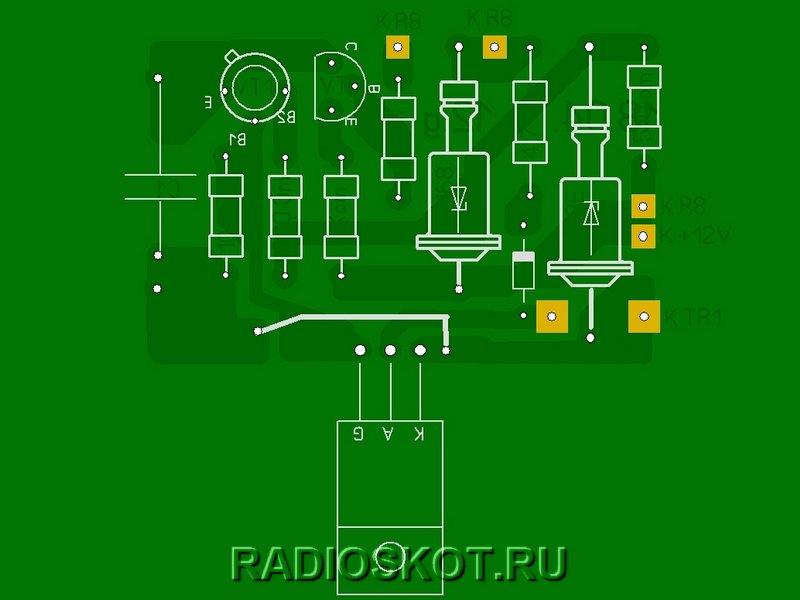 Рисунки печатных плат десульфатирующего зарядного устройства 2
