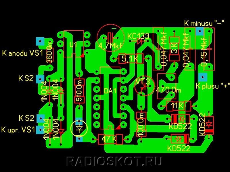 Приставка к зарядному устройству для десульфатации батарей