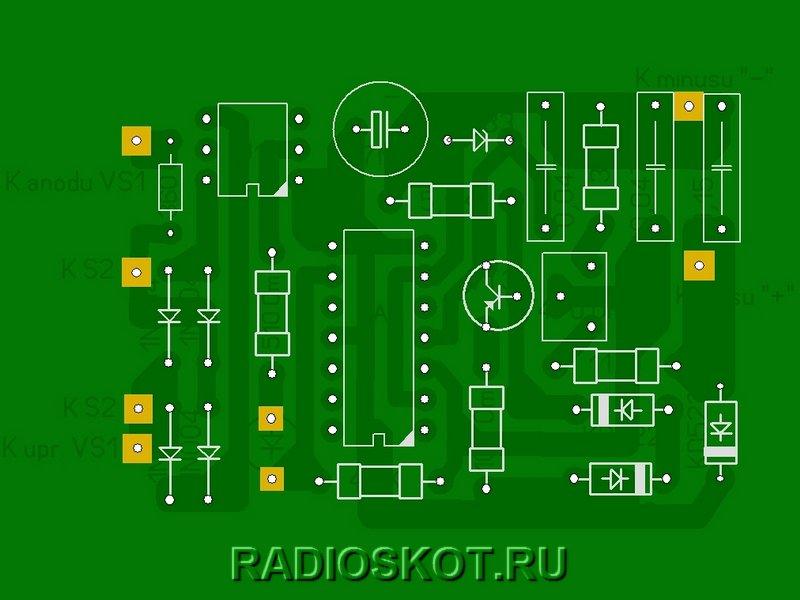 Модуль контроля напряжения - расположение деталей