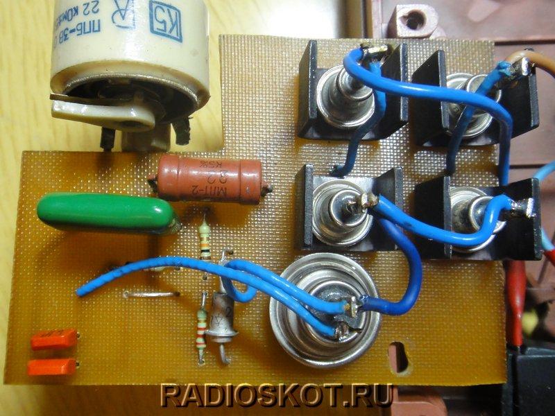 Схема тиристорного регулятора тока.