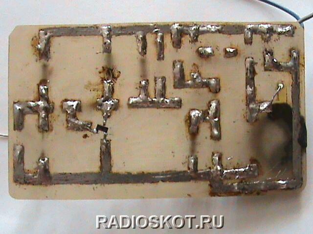 Транзистор VT1 (smd) паял со стороны дорожек