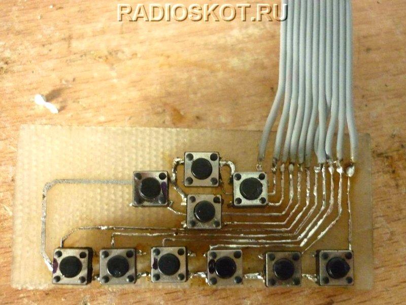 Схема управление светодиодами микроконтроллер