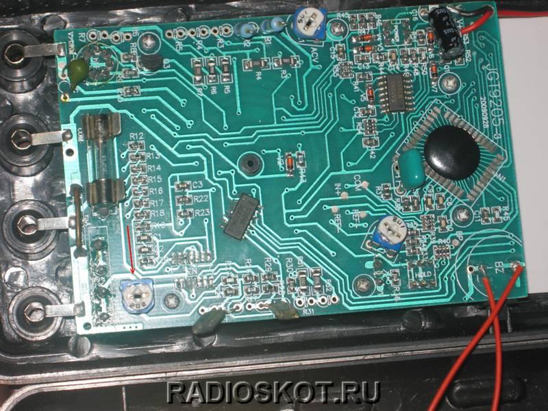 подстроечным резистором настраиваем показания