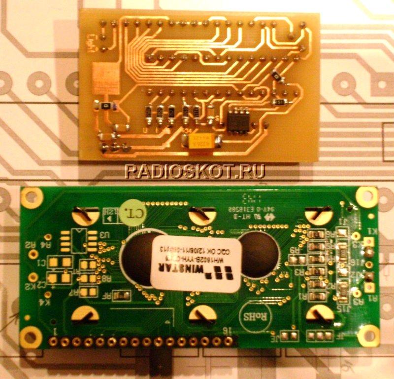 Сборка цифровой индикации, на ЖК и контроллере