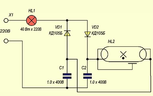 Простая схема электронного