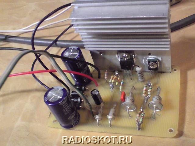 схема простого (всего 3 транзистора) блока питания