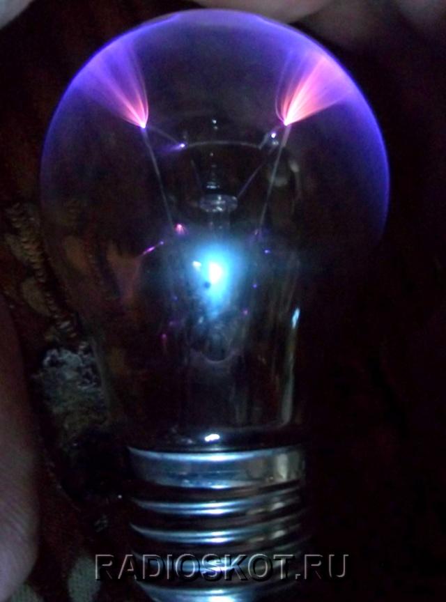 свечение плазмы внутри
