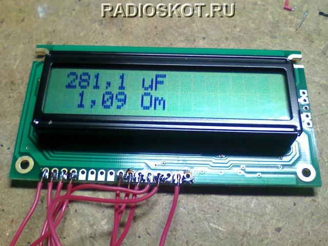 ЖК дисплей измерителя ESR