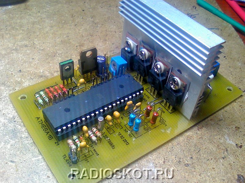Автоматическое зарядное для стартерных батарей авто на контроллере AtMega16