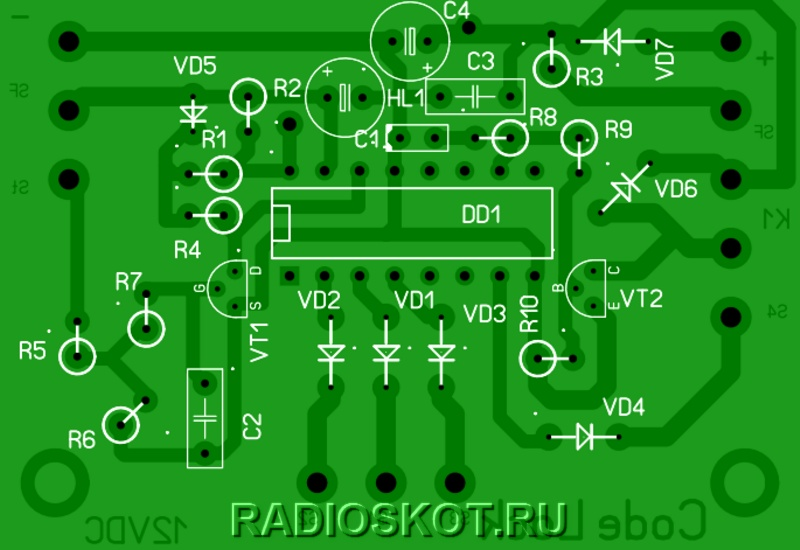 работа схемы электронного