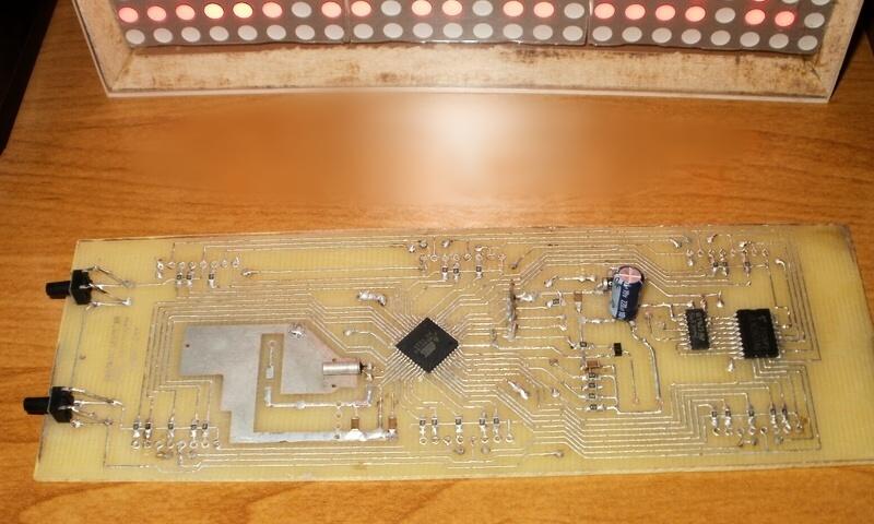 Самодельный корпус для LED часов - плата