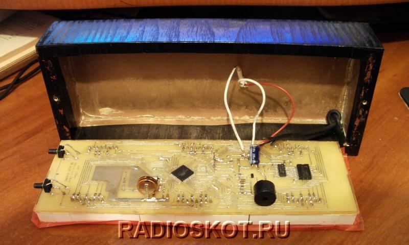 Самодельный корпус для LED часов на atmega16