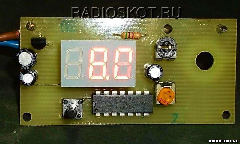 цифрового ампервольтметра для зарядного
