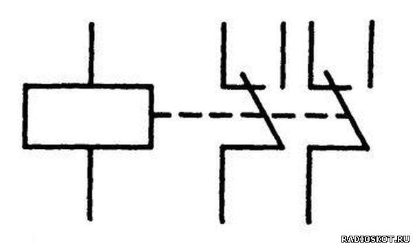На принципиальной схеме изображено реле