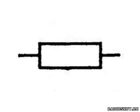 Постоянный резистор рисунок на схеме