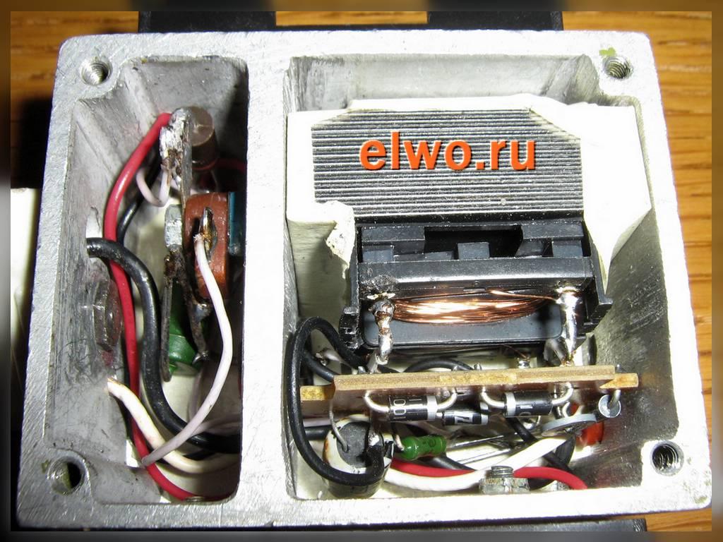 Схема зарядного устройства для аккумулятора.