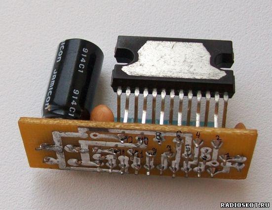 Фото микросхемы со стороны крепления к радиатору