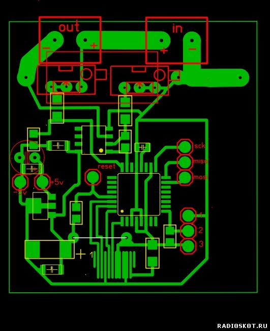 Рисунок платы цифрового ампервольтметра