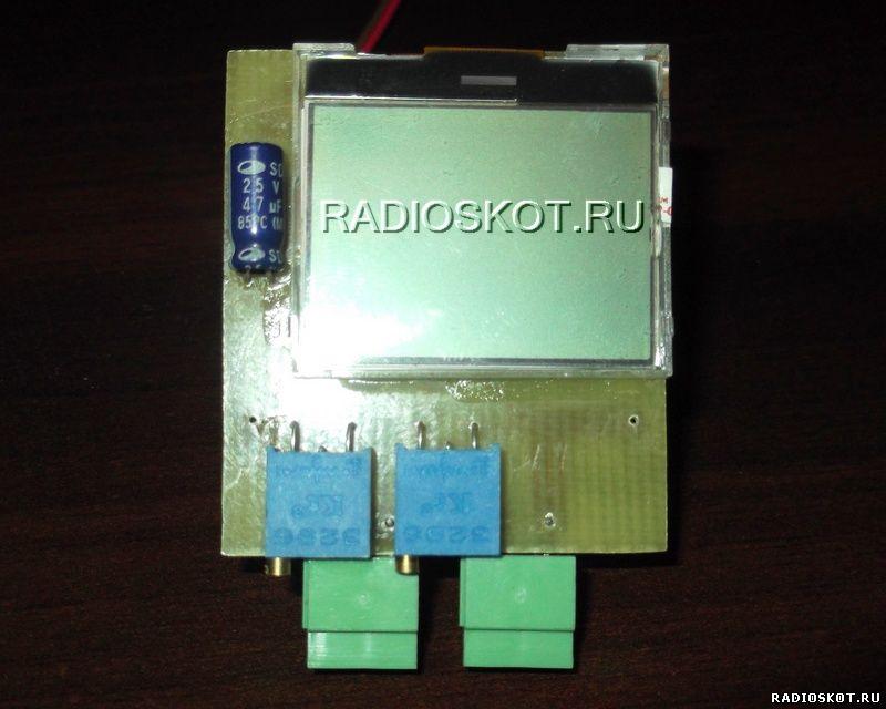 ампервольтметр на микроконтроллере и ЖК дисплее