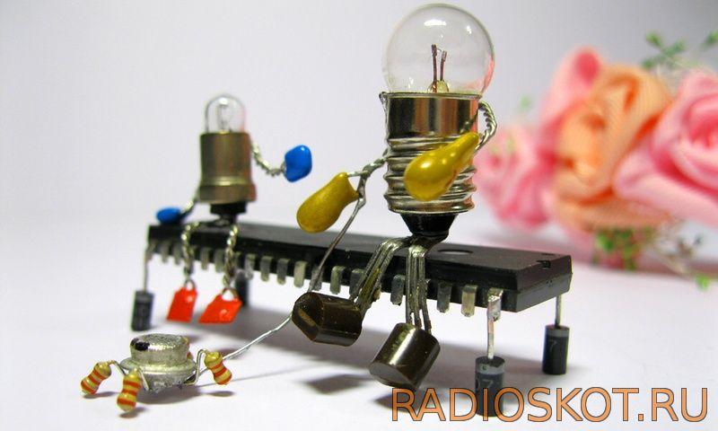 Мини-роботы из электронных деталей своими руками 8