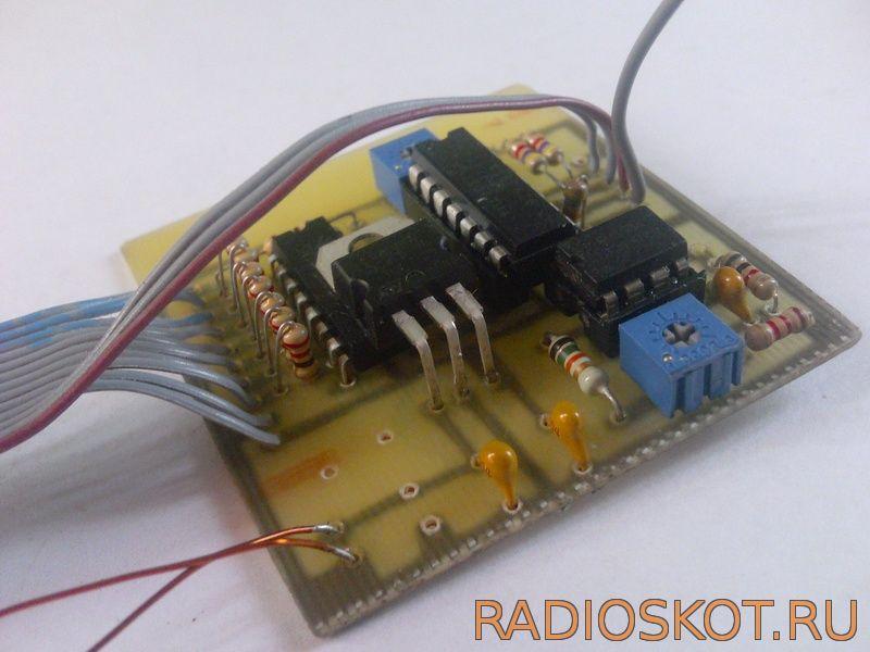 вольтамперватметр на микроконтроллере PIC16F676 и 74HC595