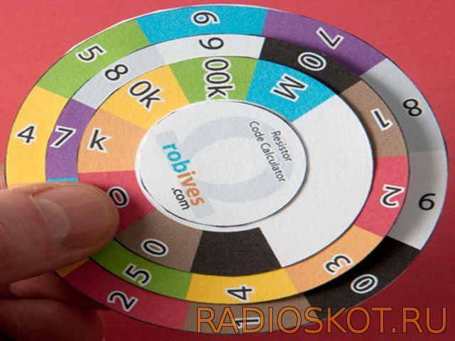 Цветовая маркировка резисторов калькулятор своими руками 78