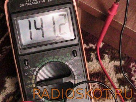 ток зарядки 140 mA