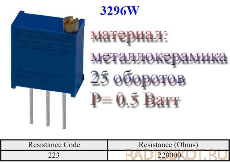 Переменный резистор на 22 килоОма