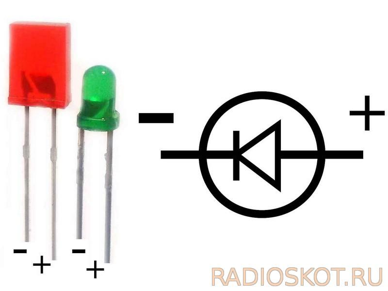 Светодиоды (LED) D1 и D2
