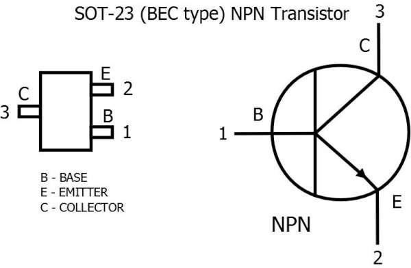 Цоколевка транзисторов в SOT 23