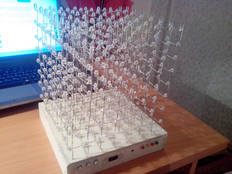 Светодиодный куб своими руками схема фото 497