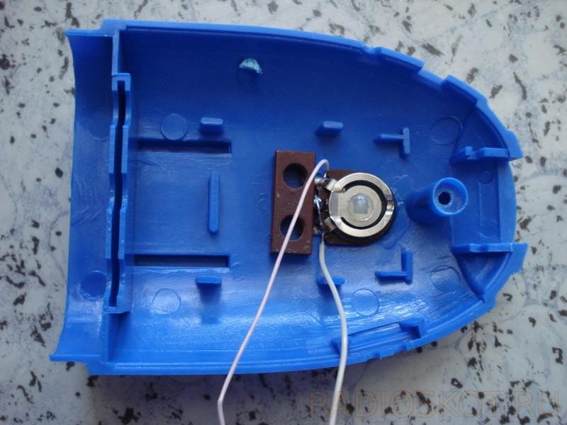 отверстие под крутящуюся часть подстроечного резистора