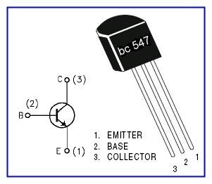 Распиновку транзистора 547