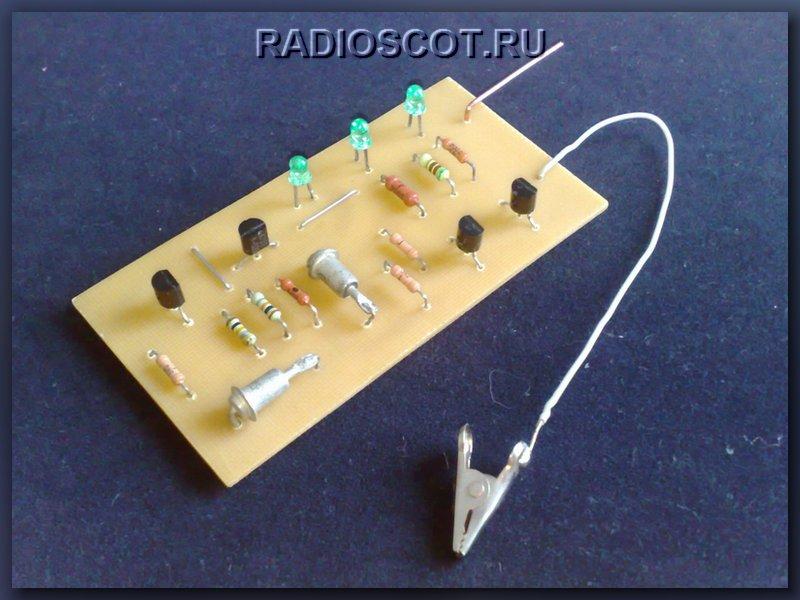 вид конструкции индикатора на транзисторах