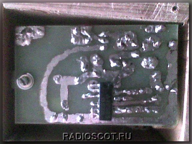 Печатка с микросхемой 176ие5 зарядного устройства