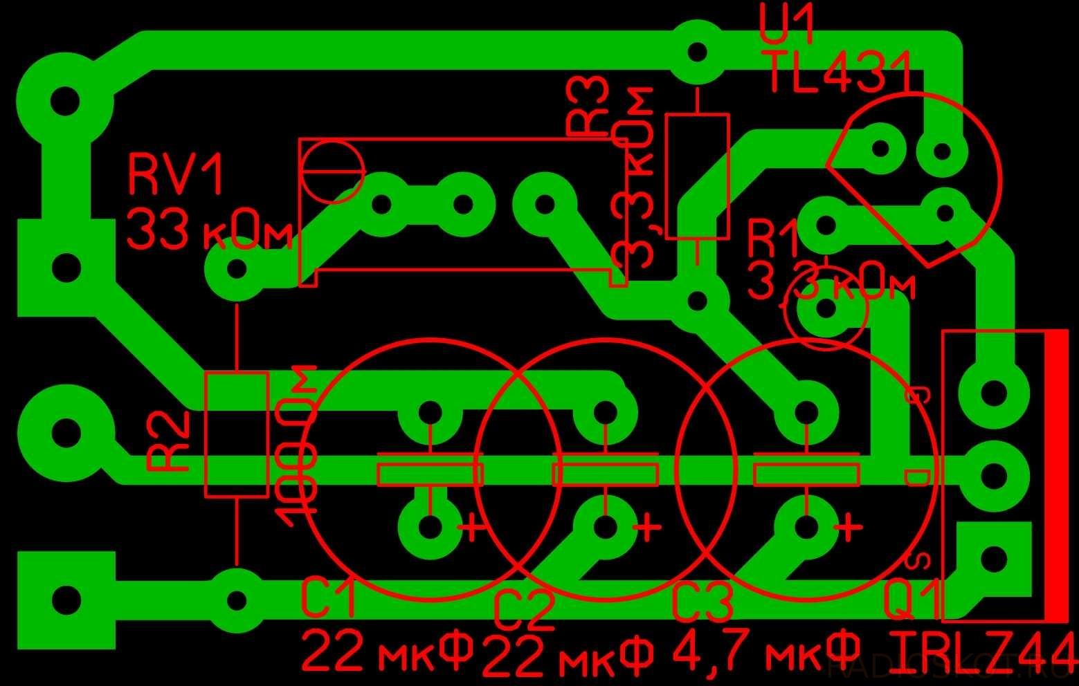 схема регулируемого стабилизатора напряжения 0-15в