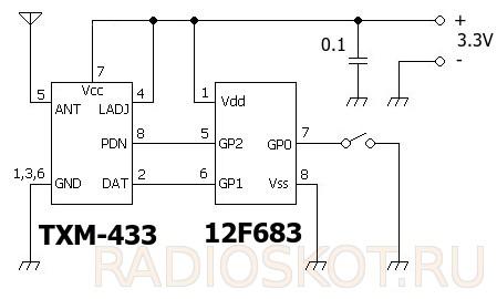 Схема TXM 433