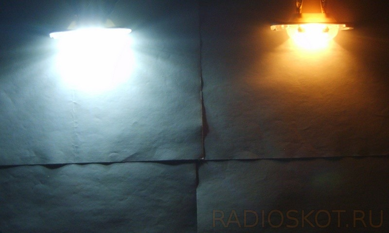 переделка лампочки накаливания на LED - сравнение и тест