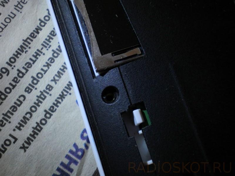 В планшете крышка на защёлках - разборка