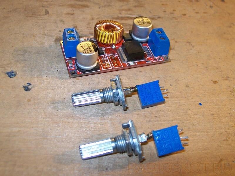 переменныу резисторы для регулировки напряжения и ограничения тока