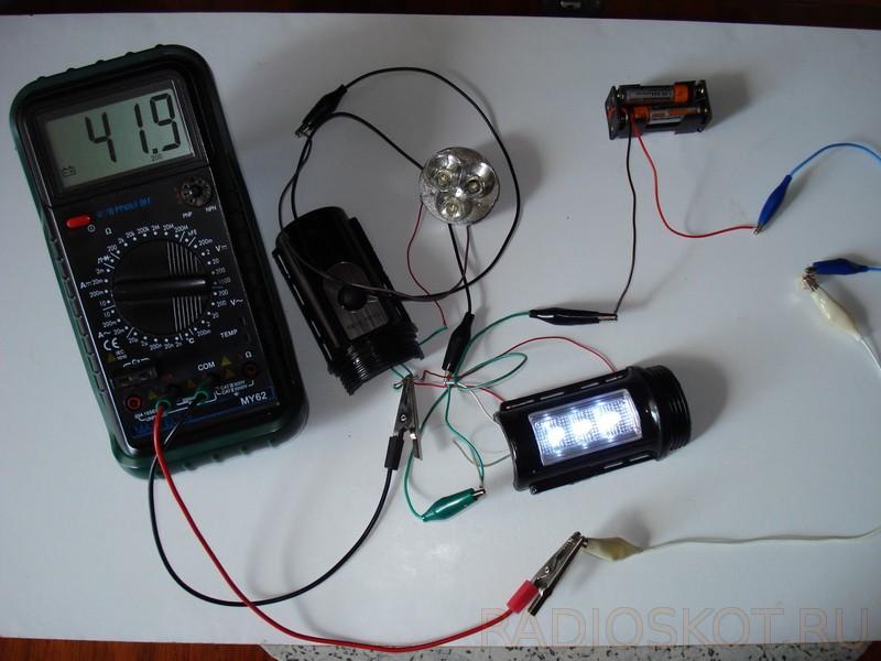 Подключил светодиоды через постоянный резистор