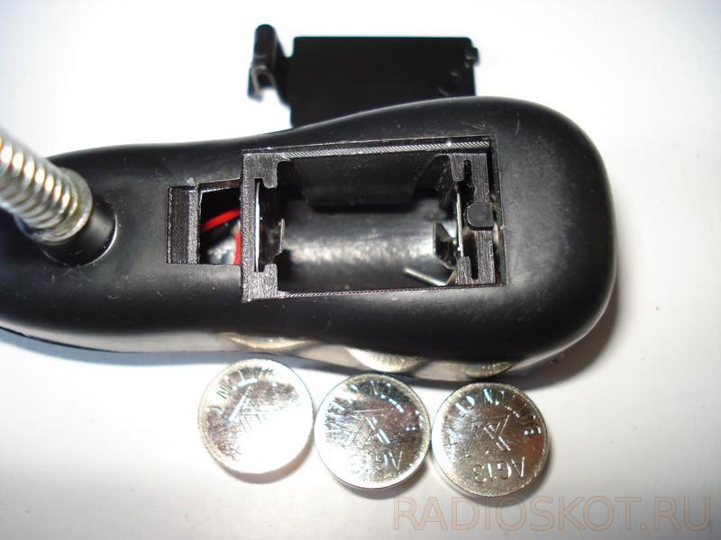 дисковые батарейки в фонарь
