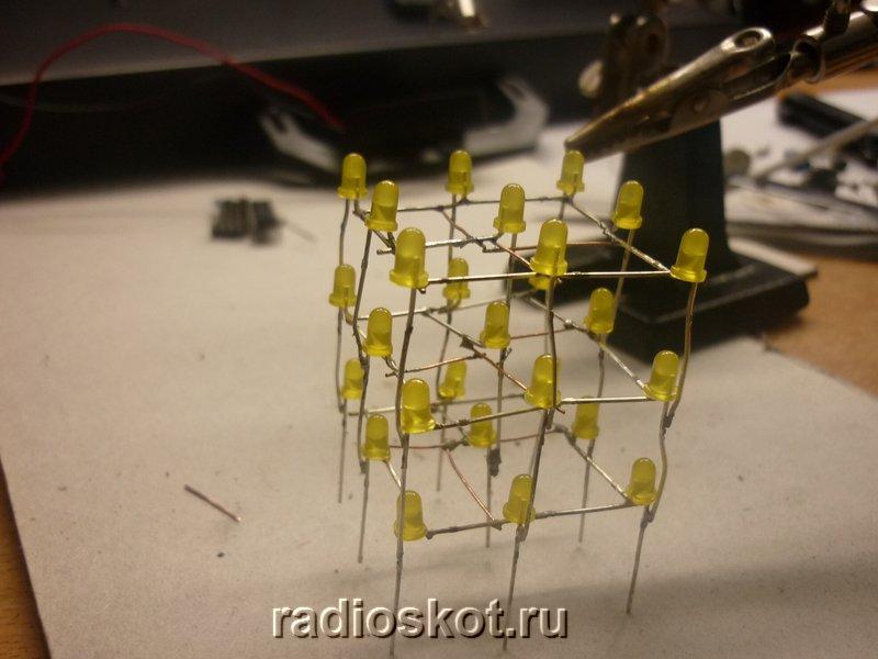Куб 3х3х3 на светодиодах