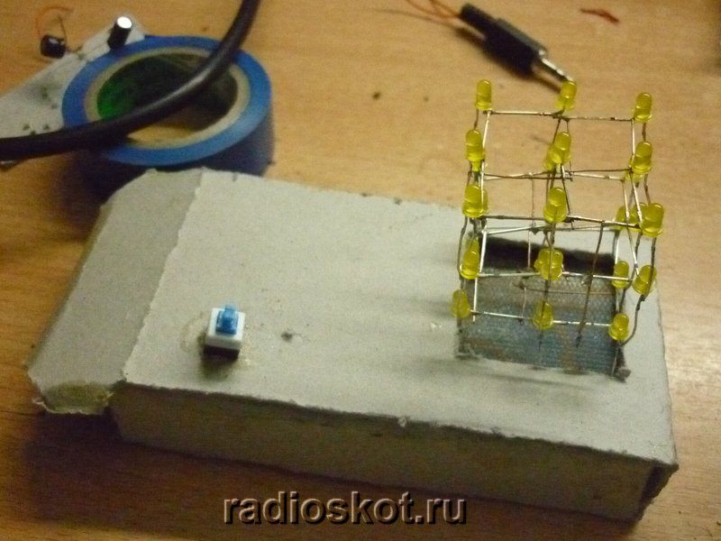 Вид самодельного 3D куба