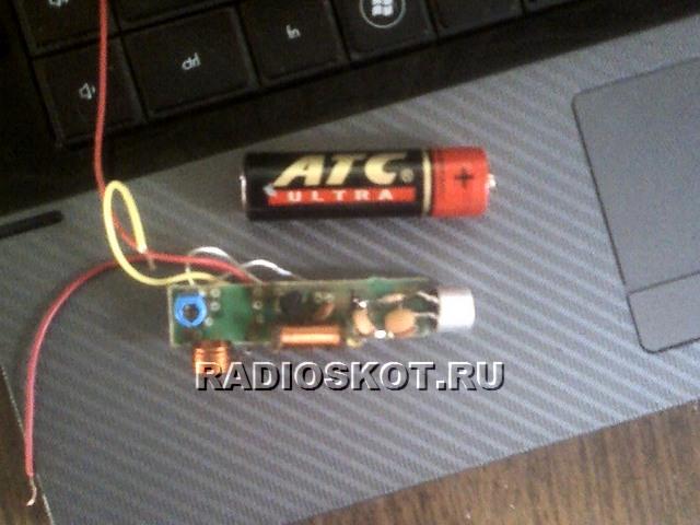 Микрофон для. жучка. взят от китайского магнитофона, но можно применить и любой электретный, типа сосна, МКЭ-3 или...