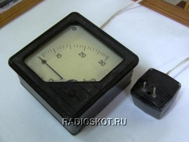 термометра начинают с