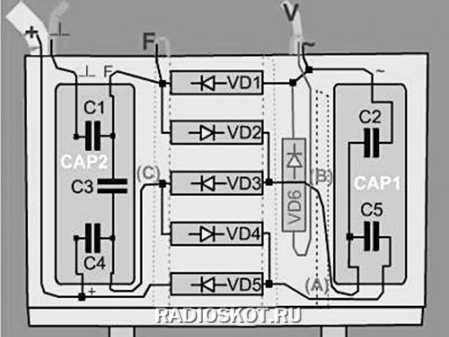 умножителя электрошокера